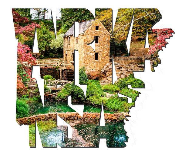 Photograph - Arkansas Typography - Afternoon At The Old Mill - Arkansas by Gregory Ballos