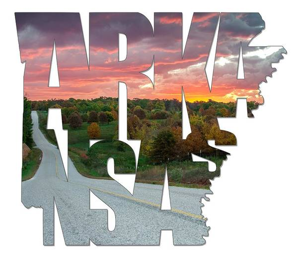 Photograph - Arkansas Typography - Country Back Roads by Gregory Ballos
