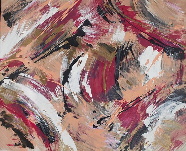 Pink Champagne Painting - Arlee by Roya Gharavi