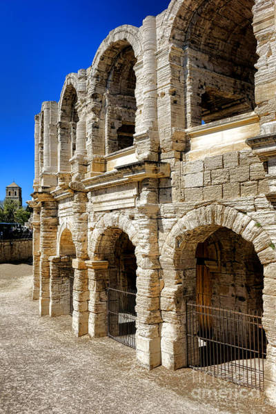 Roman Wall Photograph - Arles Roman Amphitheater by Olivier Le Queinec