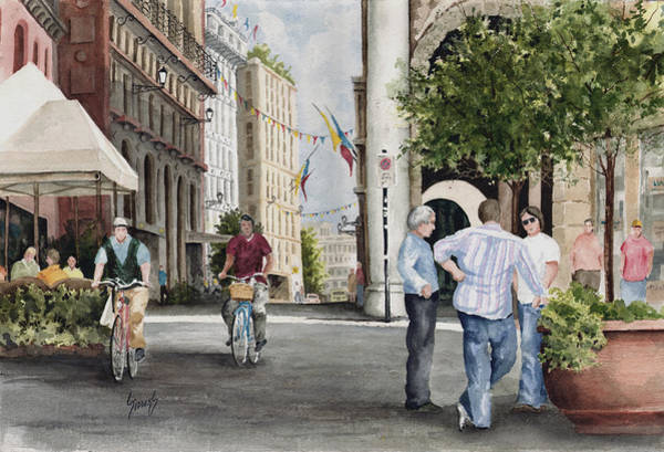 Painting - Arles Street by Sam Sidders
