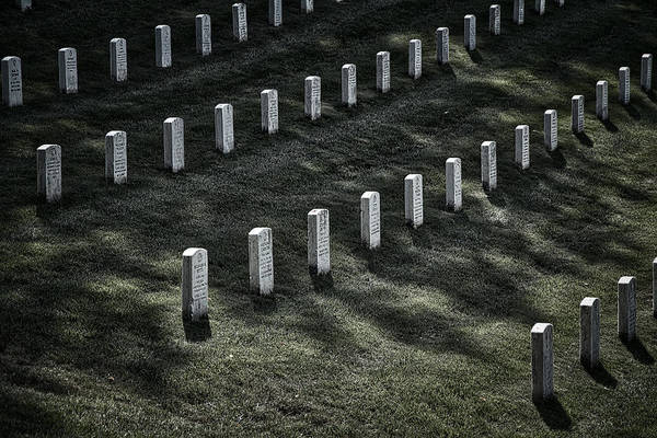 Photograph - Arlington Cemetery Graves #2 by Stuart Litoff