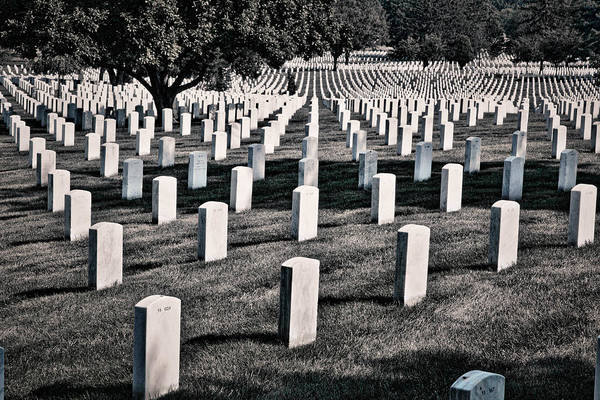 Photograph - Arlington Cemetery Graves #3 by Stuart Litoff