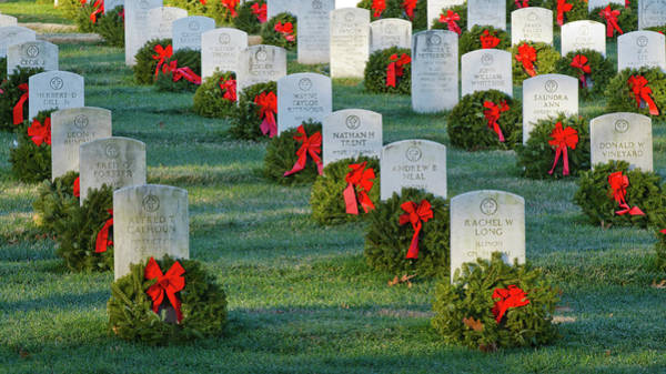 Department Of Defense Photograph - Arlington National Cemetery At Christmas by Craig Fildes