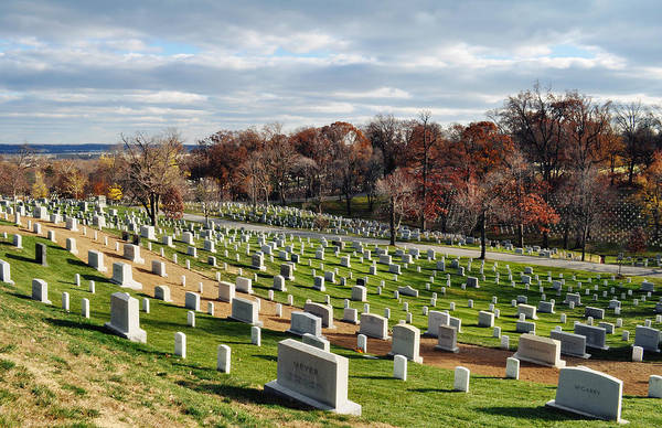 Department Of The Army Wall Art - Photograph - Arlington National Cemetery Hillside by Kyle Hanson