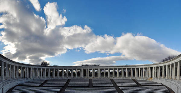 Department Of The Army Wall Art - Photograph - Arlington National Cemetery Memorial Amphitheater Panorama by Kyle Hanson
