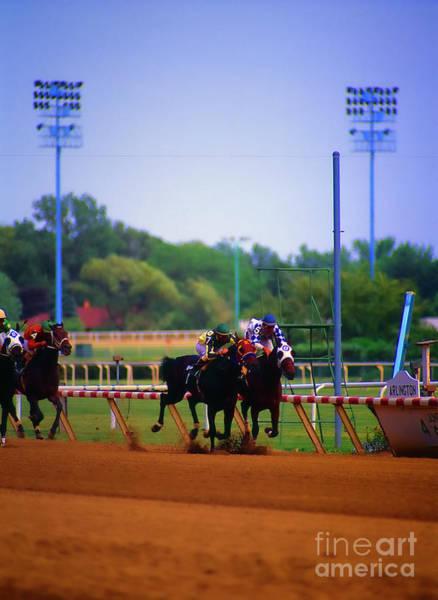 Photograph - Arlington Park Finish Line by Tom Jelen