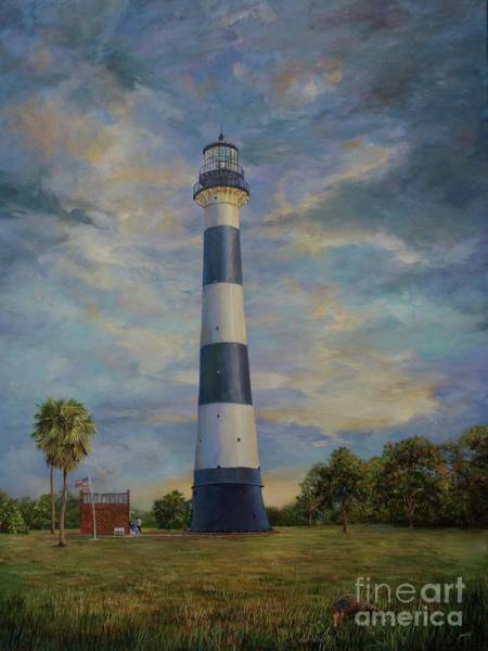 Painting - Armadillo And Lighthouse by AnnaJo Vahle