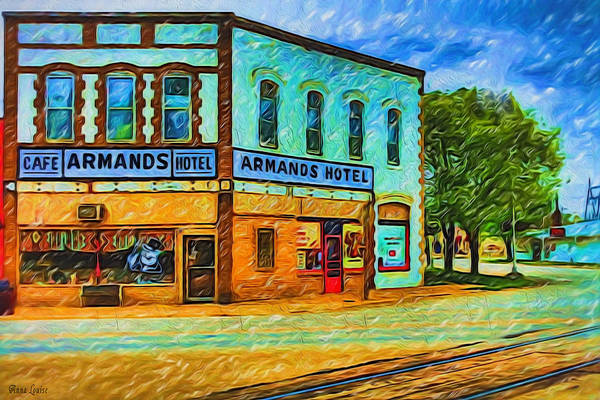 Photograph - Armands Cafe And Hotel by Anna Louise