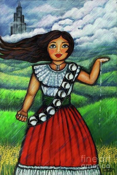 Latina Painting - Armate De Huevos En Tiempos Tormentosos by Laura Gomez