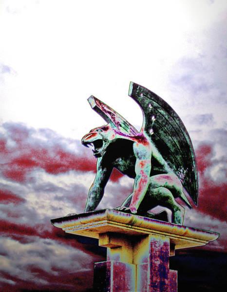 End Times Digital Art - Armeggedon Gargoyle by Jim DeLillo