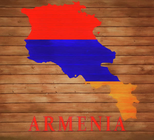 Traveler Mixed Media - Armenia Rustic Map On Wood by Dan Sproul