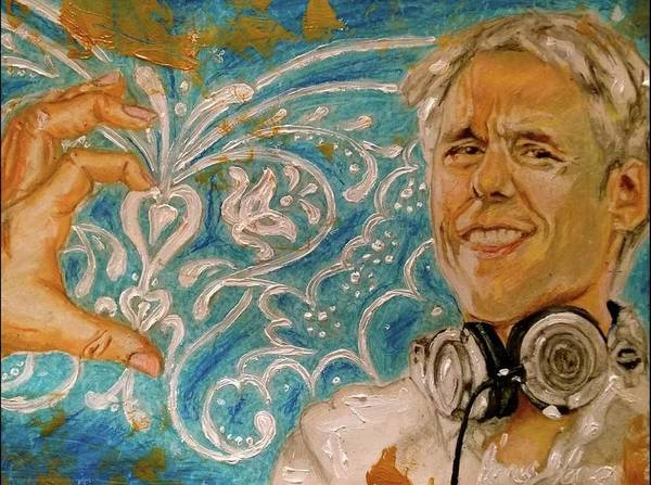 Wall Art - Painting - Armin Van Buuren Portrait by Agnes V