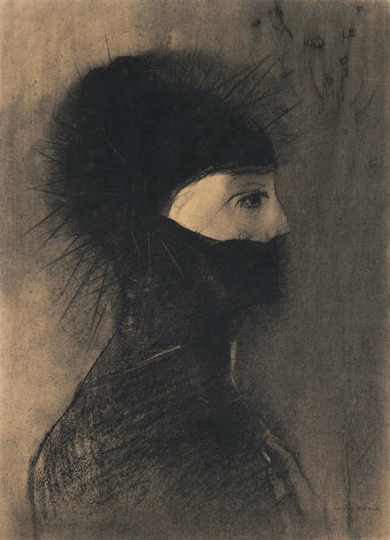 Drawing - Armor by Odilon Redon