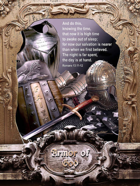 Spiritual Warfare Painting - Armor Of God by Danny Hahlbohm