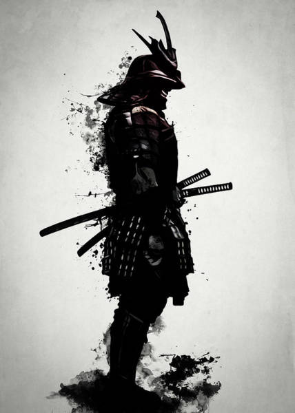 Spatter Mixed Media - Armored Samurai by Nicklas Gustafsson