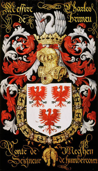 Pendant Painting - Armorial Plates From The Order Of The Golden Fleece - 10 by Lukas de Heere