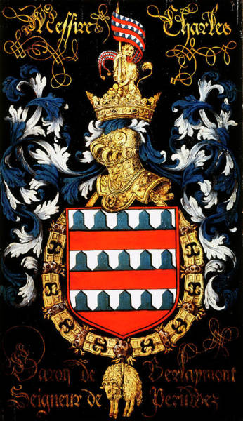 Pendant Painting - Armorial Plates From The Order Of The Golden Fleece - 13 by Lukas de Heere