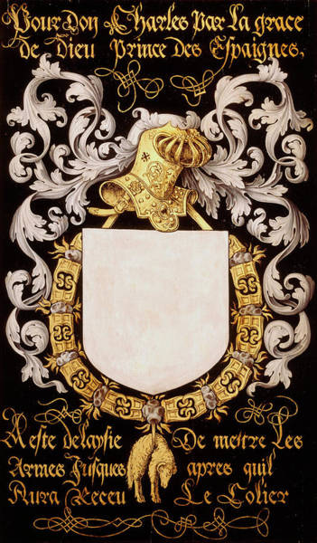 Pendant Painting - Armorial Plates From The Order Of The Golden Fleece - 15 by Lukas de Heere