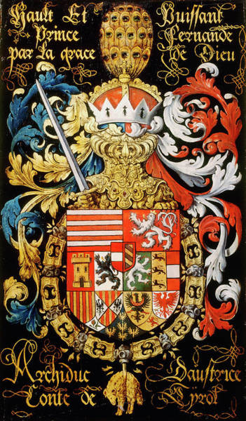 Pendant Painting - Armorial Plates From The Order Of The Golden Fleece - 17 by Lukas de Heere