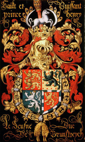 Pendant Painting - Armorial Plates From The Order Of The Golden Fleece - 18 by Lukas de Heere