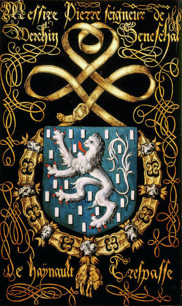 Pendant Painting - Armorial Plates From The Order Of The Golden Fleece - 19 by Lukas de Heere