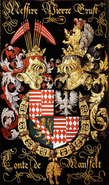 Pendant Painting - Armorial Plates From The Order Of The Golden Fleece - 21 by Lukas de Heere