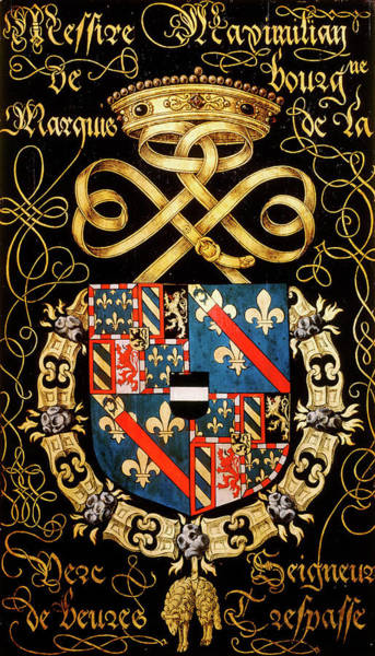 Pendant Painting - Armorial Plates From The Order Of The Golden Fleece - 22 by Lukas de Heere
