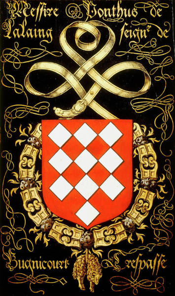 Pendant Painting - Armorial Plates From The Order Of The Golden Fleece - 25 by Lukas de Heere
