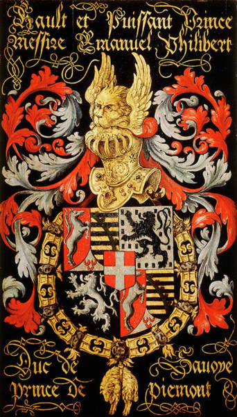 Pendant Painting - Armorial Plates From The Order Of The Golden Fleece - 27 by Lukas de Heere