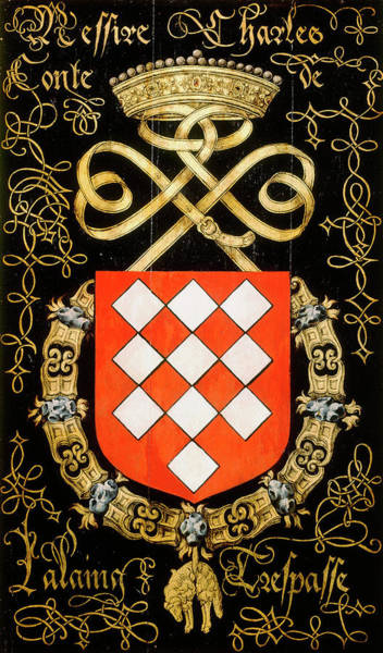 Pendant Painting - Armorial Plates From The Order Of The Golden Fleece - 29 by Lukas de Heere