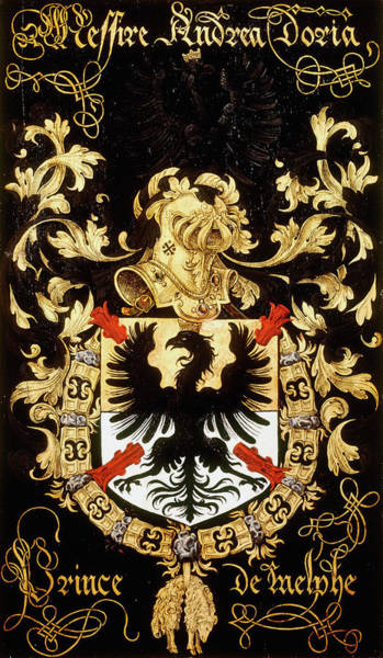 Pendant Painting - Armorial Plates From The Order Of The Golden Fleece - 31 by Lukas de Heere