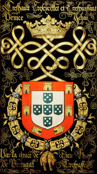 Pendant Painting - Armorial Plates From The Order Of The Golden Fleece - 32 by Lukas de Heere