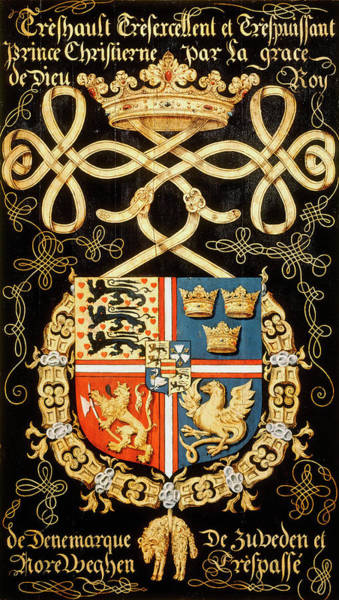 Pendant Painting - Armorial Plates From The Order Of The Golden Fleece - 33 by Lukas de Heere