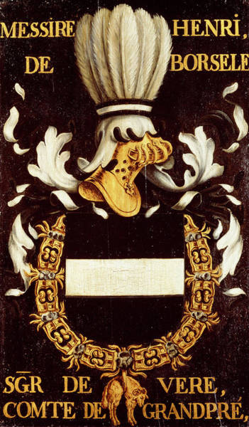 Pendant Painting - Armorial Plates From The Order Of The Golden Fleece - 36 by Lukas de Heere