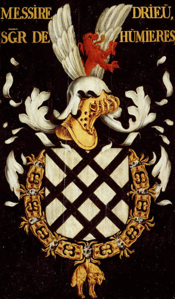 Pendant Painting - Armorial Plates From The Order Of The Golden Fleece - 37 by Lukas de Heere