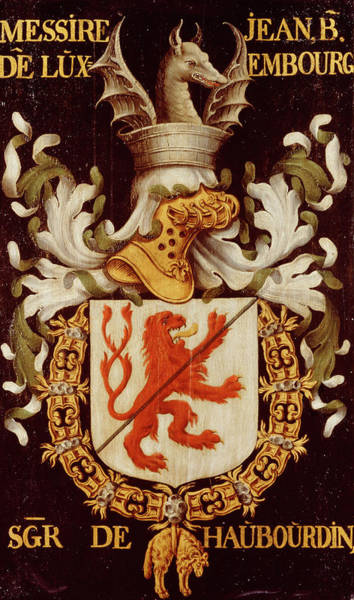 Pendant Painting - Armorial Plates From The Order Of The Golden Fleece - 39 by Lukas de Heere