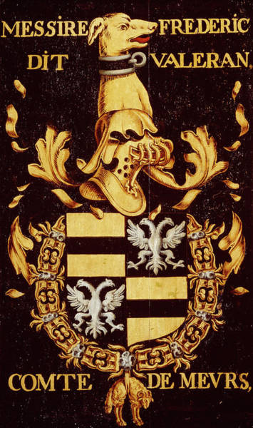 Pendant Painting - Armorial Plates From The Order Of The Golden Fleece - 41 by Lukas de Heere