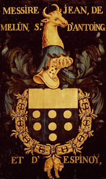 Pendant Painting - Armorial Plates From The Order Of The Golden Fleece - 42 by Lukas de Heere