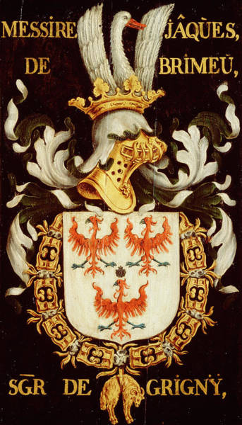 Pendant Painting - Armorial Plates From The Order Of The Golden Fleece - 44 by Lukas de Heere