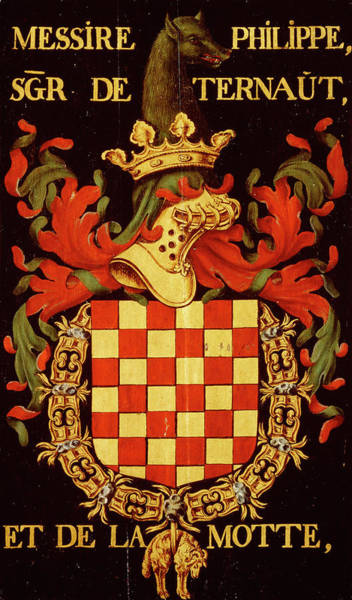 Pendant Painting - Armorial Plates From The Order Of The Golden Fleece - 45 by Lukas de Heere