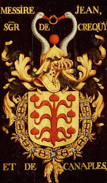 Pendant Painting - Armorial Plates From The Order Of The Golden Fleece - 46 by Lukas de Heere