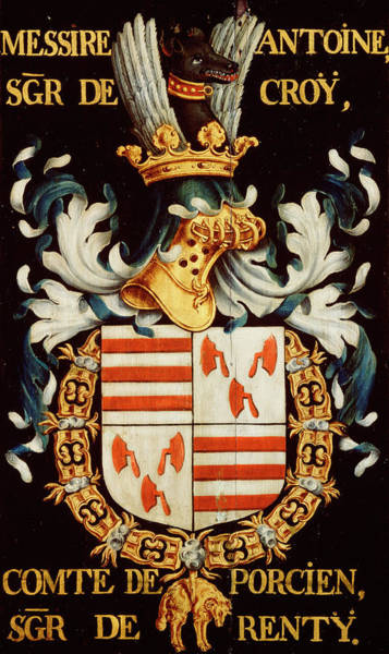 Pendant Painting - Armorial Plates From The Order Of The Golden Fleece - 49 by Lukas de Heere