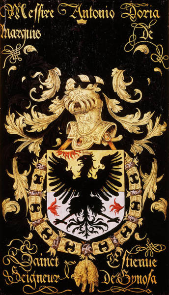 Wall Art - Painting - Armorial Plates From The Order Of The Golden Fleece - 5  by Lukas de Heere