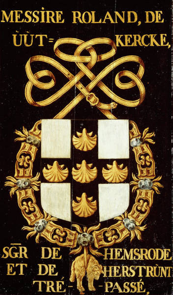 Pendant Painting - Armorial Plates From The Order Of The Golden Fleece - 50 by Lukas de Heere