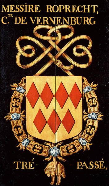 Pendant Painting - Armorial Plates From The Order Of The Golden Fleece - 56 by Lukas de Heere