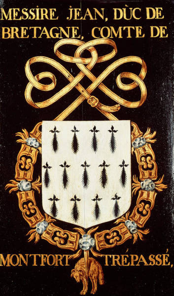 Pendant Painting - Armorial Plates From The Order Of The Golden Fleece - 57 by Lukas de Heere