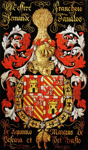 Pendant Painting - Armorial Plates From The Order Of The Golden Fleece - 6 by Lukas de Heere