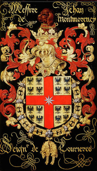 Pendant Painting - Armorial Plates From The Order Of The Golden Fleece - 7 by Lukas de Heere