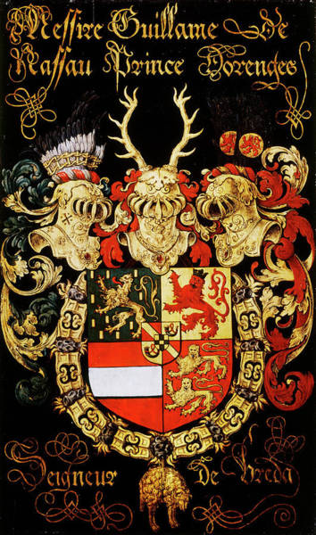 Pendant Painting - Armorial Plates From The Order Of The Golden Fleece - 8 by Lukas de Heere